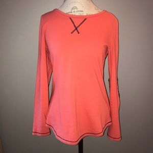 GAP Orange and Navy Thick Long Sleeve Shirt Size S
